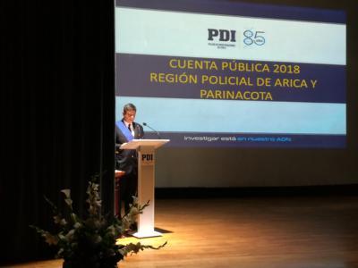 Jefe  de la PDI rindió Cuenta Pública ante  autoridades regionales