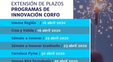 Corfo extendió plazos de postulaciones en Innovación