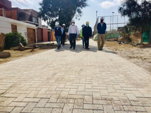 Pasajes de Población Radio El Morro comienzan a lucir nuevos pavimentos
